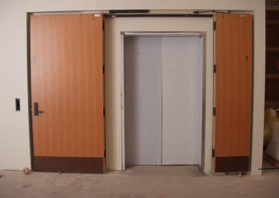 Compare Standard Doors- Additional Hardware requirements create clutter, compromising aesthetics