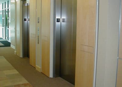 Wood insert in exit devices, Office Building-Bellevue, WA